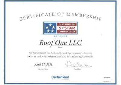 cert roof2 400x284 - Awards & Certifications