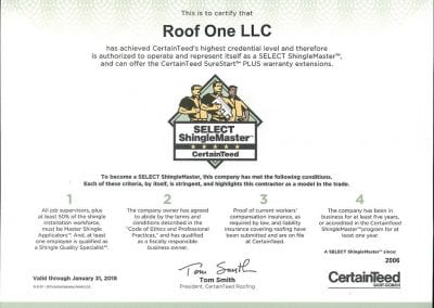 certaineed cert 400x284 - Awards & Certifications