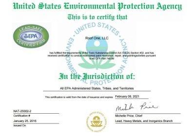 certificate 400x284 - Awards & Certifications