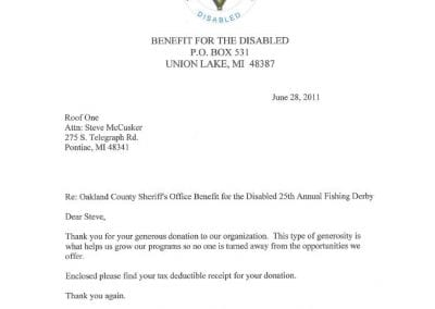 disabled benefit contribution1 400x284 - Awards & Certifications