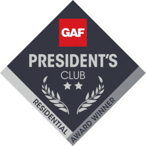 gaf presidents club 2 star 640x640 300x300 - Roof One Michigan. Greater Detroit Michigan Roofing Contractor