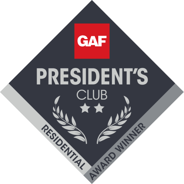gaf presidents club 2 star 640x640 - Roof One Michigan. Greater Detroit Michigan Roofing Contractor