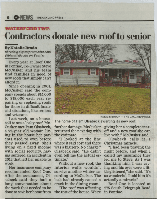 roofonearticle - In The News